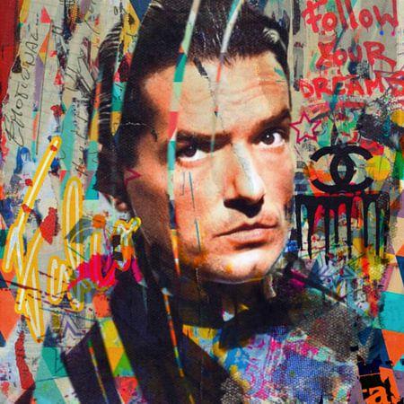 Falco - Emotional - Plakative Collage van Felix von Altersheim