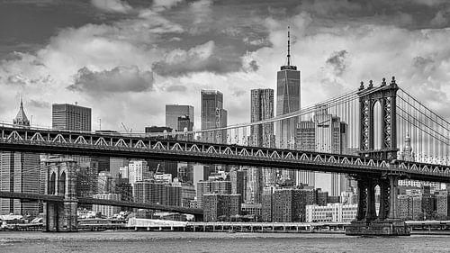 Manhattan en Brooklyn bridge in NYC