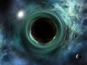 Schwarzes Loch und Ereignishorizont von Markus Gann