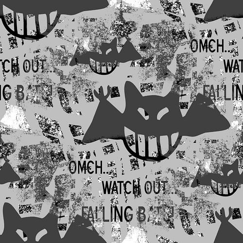 Falling bats Grunge Black&White