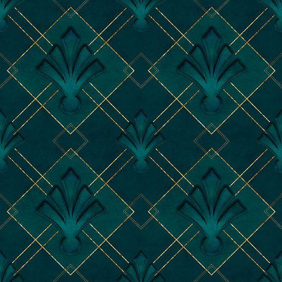 Élégance Art Déco Or vert