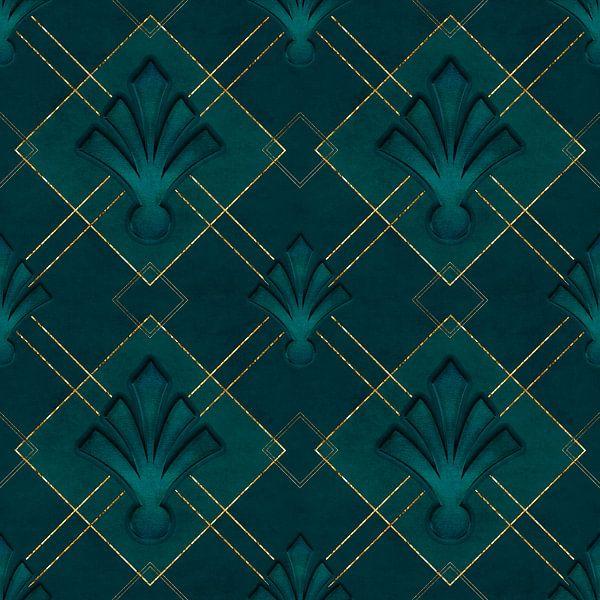 Élégance Art Déco Or vert sur Andrea Haase