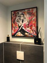 Klantfoto: Brigitte Bardot St. Tropez van Michiel Folkers, op canvas