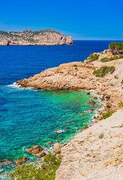 Mallorca, Sant Elm met uitzicht op natinaal park eiland Sa Dragonera van Alex Winter