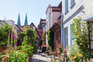 Rozengang, oude binnenstad, Lübeck, Sleeswijk-Holstein van Torsten Krüger