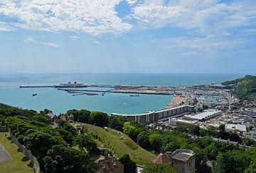 Ansicht des Hafens von Dover vom Schloss Dover aus von Judith Cool