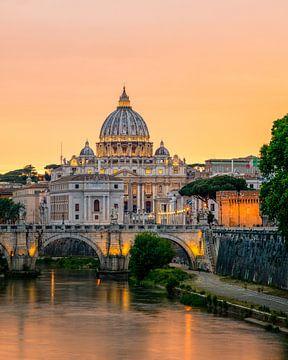 Rome - Vaticaan - Engelbrug - Castel Sant'Angelo van Teun Ruijters