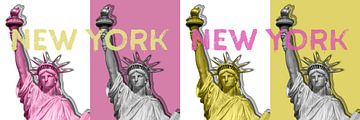 POP ART Freiheitsstatue | New York New York | Panorama von Melanie Viola