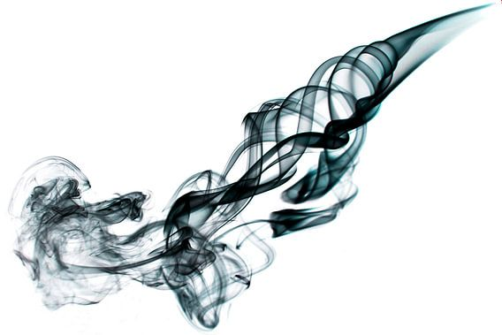 Abstracte afbeelding van rook van  Liesbeth van Asseldonk