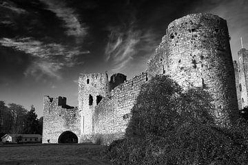 Schwarz-Weiß-Foto von Trim Castle in Irland. von Jim Allen