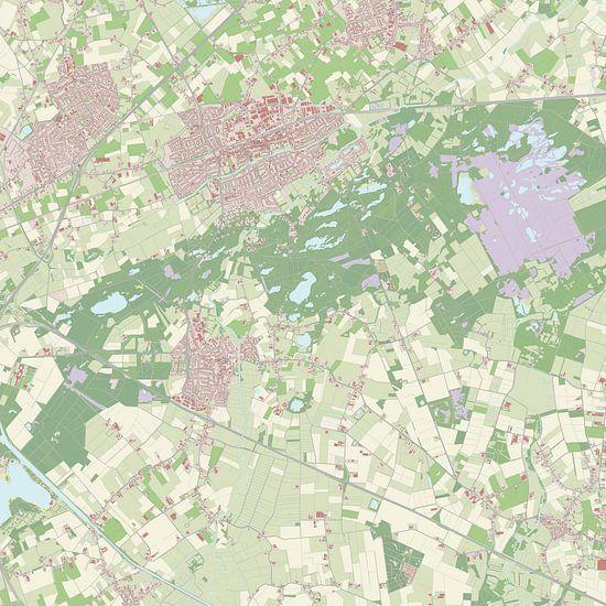 Kaart vanOisterwijk van Rebel Ontwerp