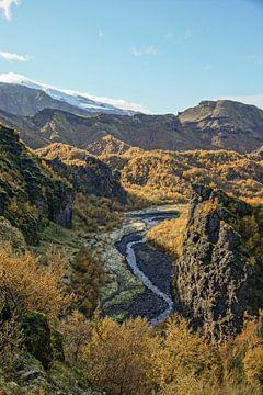 Herfstkleuren in Þórsmörk, IJsland van Wigger Tims