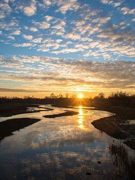 Zonsondergang de Doorbraak, Twente van Renske Huiskes