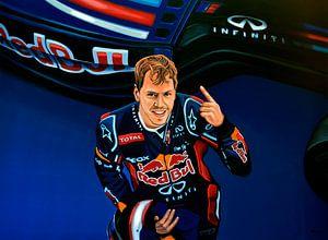Sebastian Vettel schilderij van Paul Meijering
