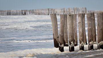 Golfbrekers aan de Zeeuwse kust van Michel Seelen