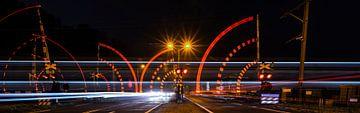 Spelen met licht: spoorwegovergang sur Jack Vermeulen