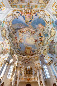 Interieur Wieskirche, Duitsland van Adelheid Smitt