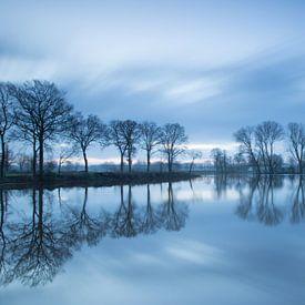 Overstroomde rivier de Dinkel  (long exposure) sur Art Wittingen