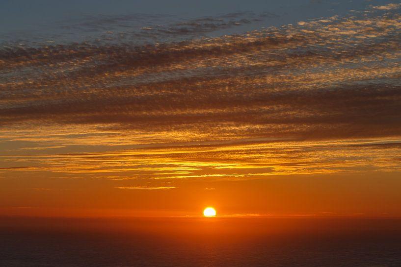 Midzomernacht zonsondergang van Menno Schaefer