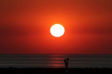 Zonsondergang Afsluitdijk