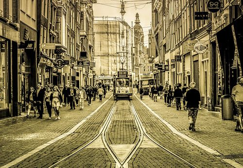 Amsterdamse Leidsestraat van