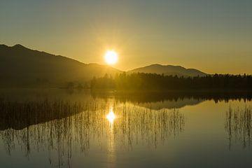 Zonsondergang bij Staffelsee van Denis Feiner