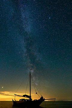 Melkweg met platbodem van Johan Kalthof