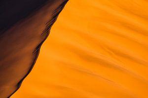 Abstracte foto van rode zandduinen - Sossusvlei, Namibië