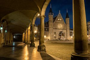 Den Haag: De Ridderzaal bij nacht van