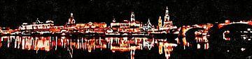 Dresden bei Nacht von Saskia Ben Jemaa