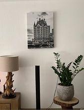 Photo de nos clients: Alter Hafen mit dem Weißen Haus in Rotterdam sur Don Fonzarelli, sur toile
