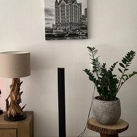 Klantfoto: Oude Haven met het Witte Huis in Rotterdam van Don Fonzarelli, op canvas