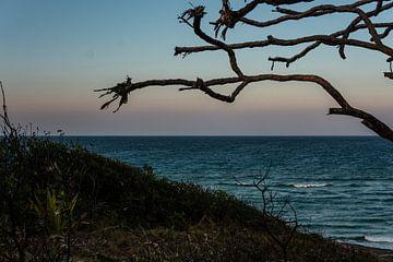 zonsondergang aan de zee van Ennio Brehm
