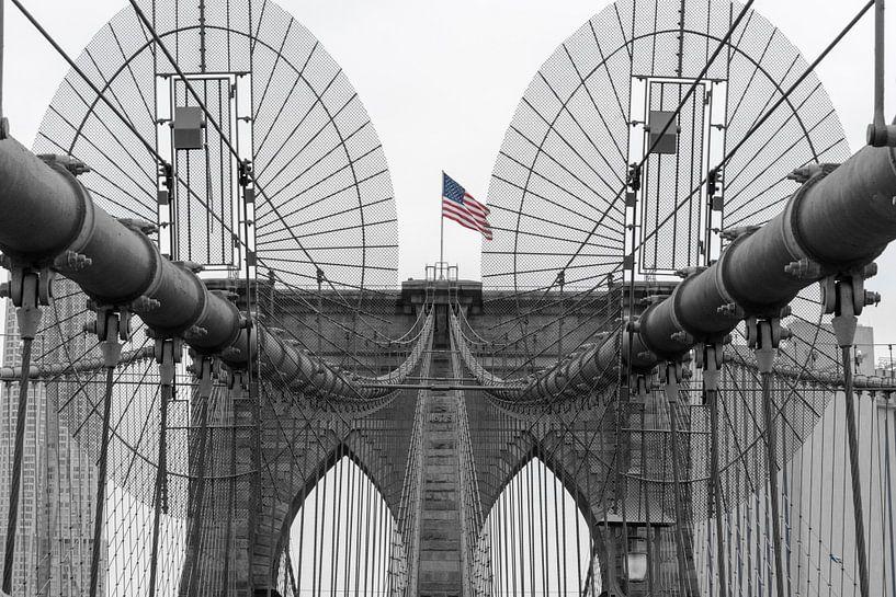 Brooklyn Bridge in New York City van Philipp Stelzel