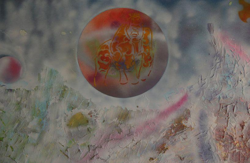 Wild Landscape detail 2 van Toekie -Art