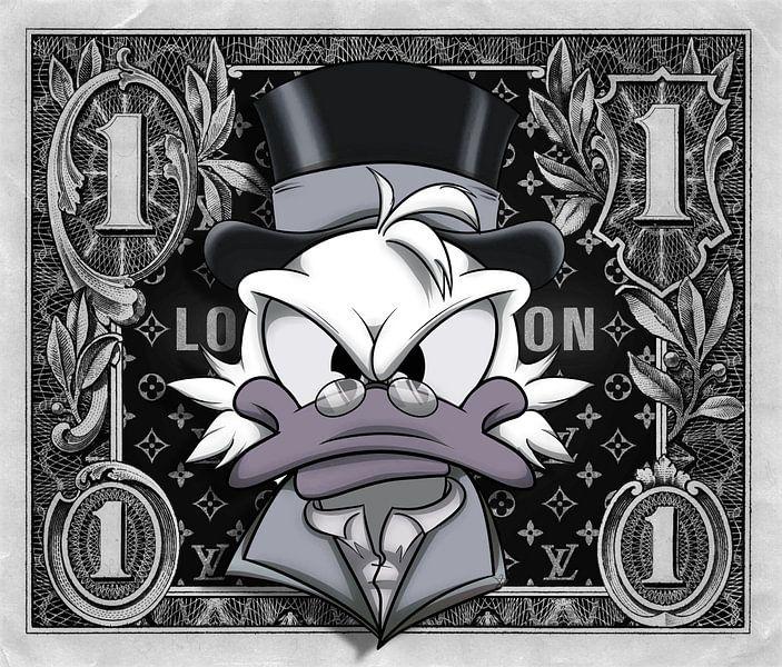 1 Dollar Dagobert Mc Duck LV von Rene Ladenius Digital Art