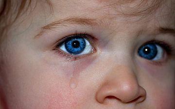 Children's face with a tear sur Natasja Tollenaar