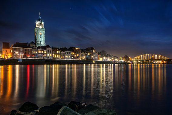Deventer Skyline by Night van Martin Podt