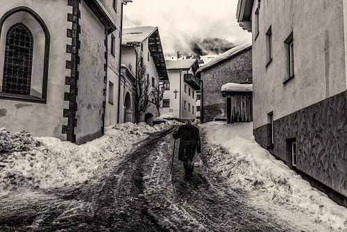 Winter in Zwart-Wit van Bert Heuvels