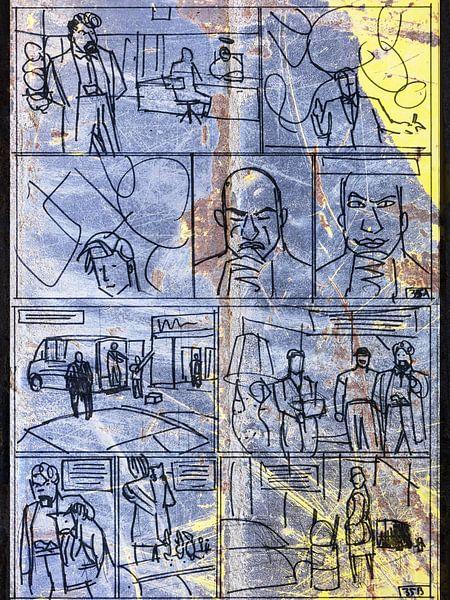 Strip Splinter Goes Urban (Schets p35)  van MoArt (Maurice Heuts)