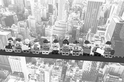 Lunch atop a skyscraper Lego edition - New York sur