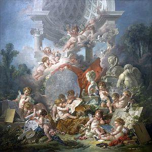 Die Genies der Künste, François Boucher, 1761