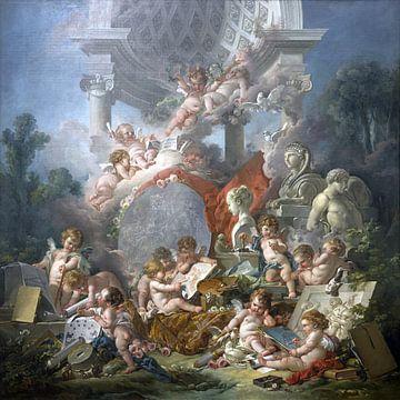 Die Genies der Künste, François Boucher, 1761 von Atelier Liesjes