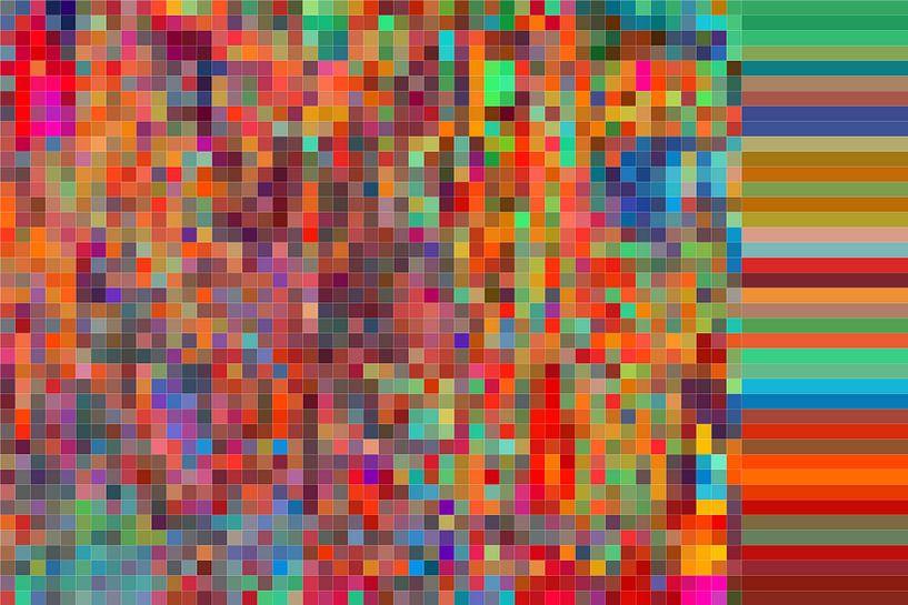 Mosaik bunt II von Marion Tenbergen