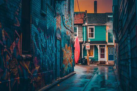 Kanada Toronto Graffiti Nachbarschaft Kensington