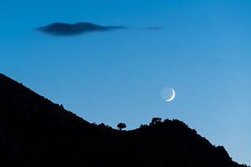 Mond über den Hügeln des Sheep Creek von Denis Feiner