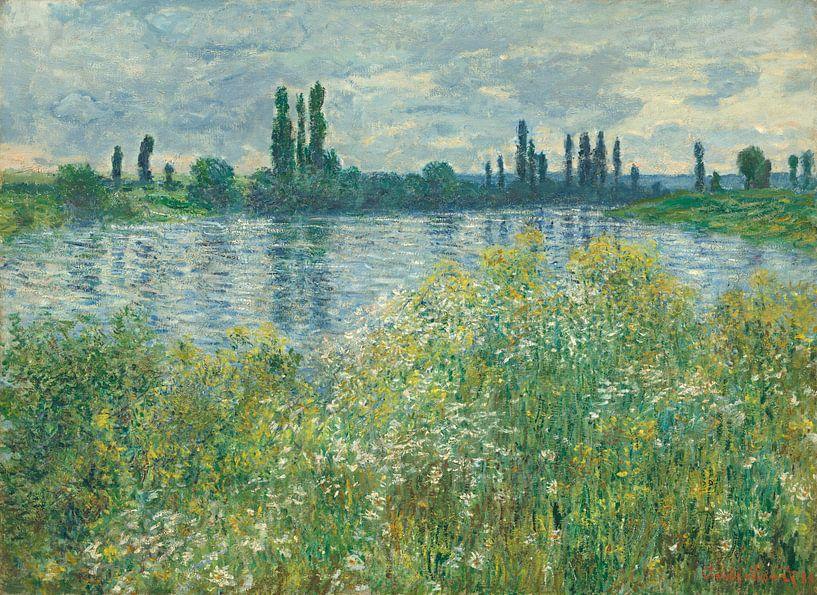 Die Seine bei Vétheuil - Claude Monet  von Rebel Ontwerp