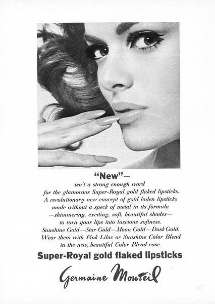 Vintage advertentie 1968 lipstick van Jaap Ros