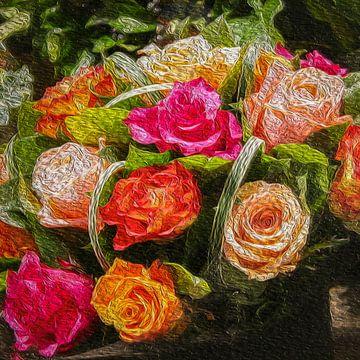Happy flowers van Freddy Hoevers