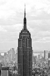 Empire State Building in Schwarzweiss II von Thea.Photo